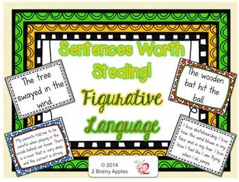 Revising Sentences Using Figurative Language Task Cards