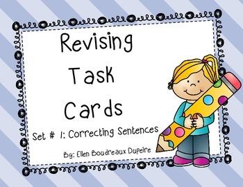 Revising Task Cards- Sentences- Set One