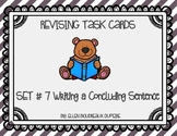 Revising Task Cards Set 7- Writing a Concluding Sentence