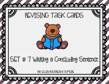 Revising Task Cards Set 7- Writing a Concluding Sentence