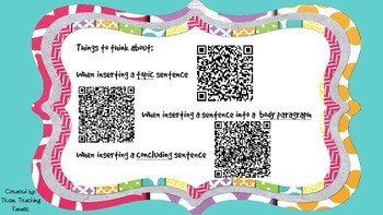 Revising Task Cards with QR Codes: Inserting Sentences