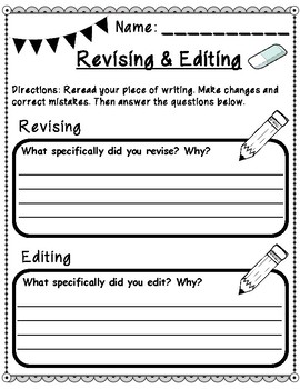 Revising Versus Editing Student Reference Handout