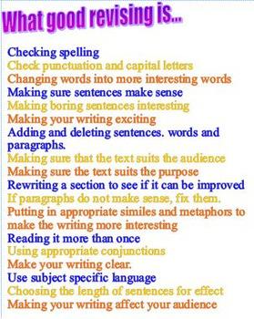 Revising Writing list