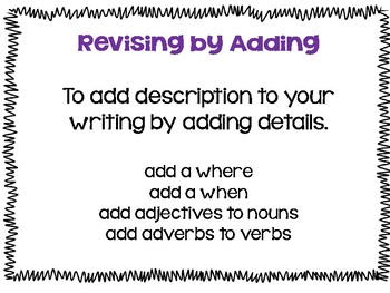 Revising Writing with Young Writers