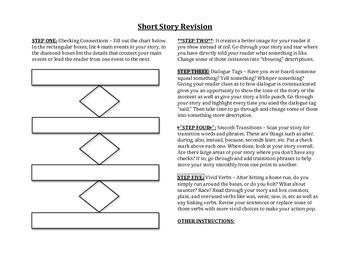 Revising a Short Story - Revision Worksheets