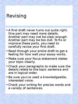Revising a classification essay