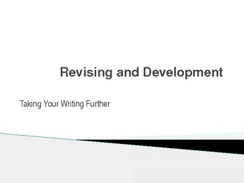 Revising and Development Lesson Plan