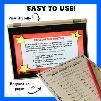 Revising and Editing Digital Task Cards Bundle