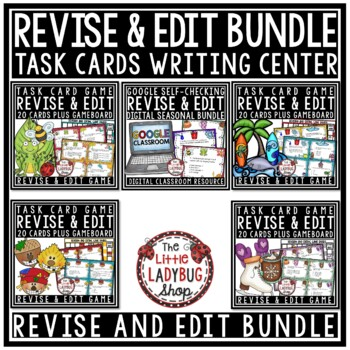 Revising and Editing Task Cards BUNDLE- Writing Center Act