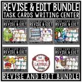 Revising & Editing Task Cards Writing Center Activity 3rd Grade 4th Grade Bundle