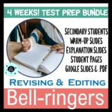Revising and Editing Bell Ringers Warm Ups Bundle - TEST P