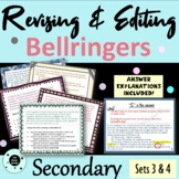 Revising and Editing Bell Ringers Warm Ups - TEST PREP - S