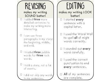 Revising and Editing Bookmarks