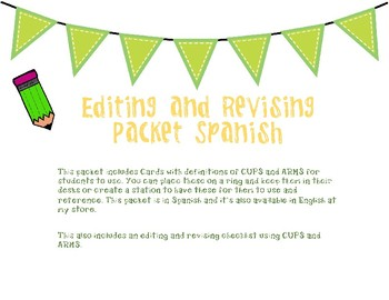 Revising and Editing CUPS & ARMS Spanish