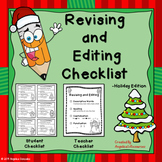 Christmas Activities :  Revising and Editing Checklist (Freebie)
