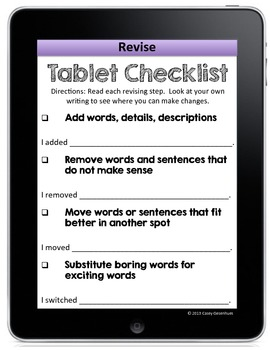 Revising and Editing Checklist Tablets