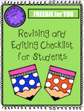 Revising and Editing Checklist for Students