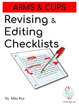 Revising and Editing Checklists using ARMS & CUPS