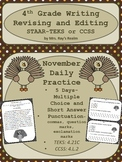 "STAAR-Revising and Editing Daily Practice-November ""Pass the Stuffing"""