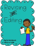 Revising and Editing - Digital Notebook (FILLABLE PDF)