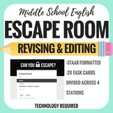 Revising and Editing - Escape Room -  7th STAAR Writing Te