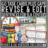 Revise & Edit Task Card Writing Test Prep ELA Revising & Editing Activities