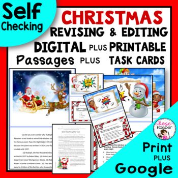 Revising and Editing Pack with Christmas Theme