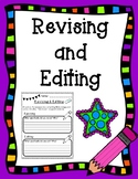 Revising and Editing Pair and Share Reflection Activity Sheet