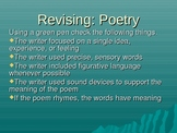 Revising and Editing Poetry
