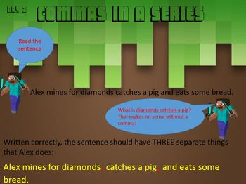Revising and Editing Powerpoint for Commas in a Series