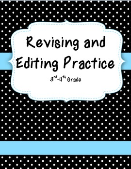 Revising and Editing Practice 3rd 4th 5th Grade Test Prep