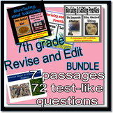 Revising and Editing Practice, 7th Grade, BUNDLE