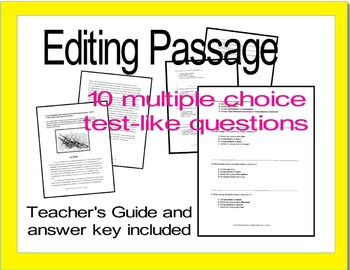 """Revising and Editing Practice; """"Chores"""" and """"La Belle"""""""