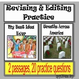 """Revising and Editing Practice; """"My Best Idea Ever"""" and """"Wr"""