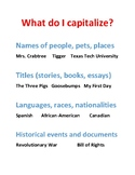Revising and Editing Practice Part 2: Capitalization