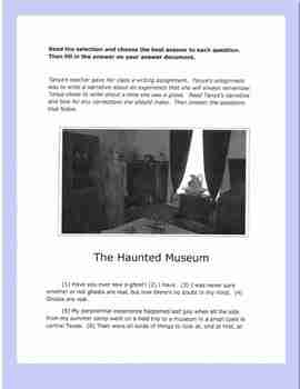 "Revising and Editing Practice Passages, ""Roadrunners"" and ""The Haunted Museum"""