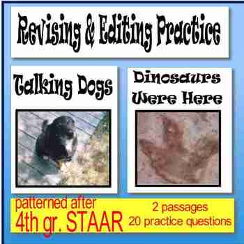 """Revising and Editing Practice; """"Talking Dogs"""" and """"Dinosaurs Were Here"""""""