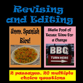 "Revising and Editing Practice; ""Umm, Spanish Rice!"" & ""The State Food of Texas"""