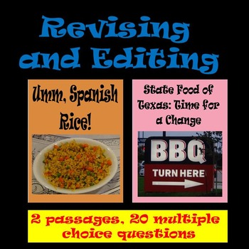 "Revising and Editing Practice; ""Umm, Spanish Rice!"" & ""The"