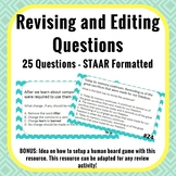 Revising and Editing Questions - STAAR Formatted - 25 Question Slides for Review