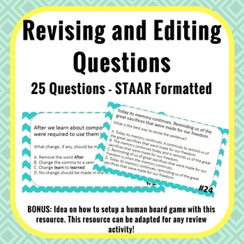 Revising and Editing Questions - STAAR Formatted - 25 Ques