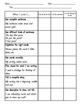 Revising and Editing Rubric