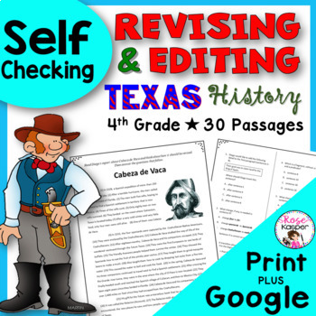 Revising and Editing Texas History - Google Drive | Distance Learning