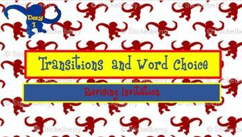 Revising and Editing Transitions and Word Choice Lessons