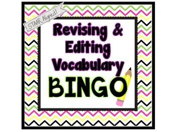 Revising and Editing Vocabulary Bingo (4th & 7th Grade Tex