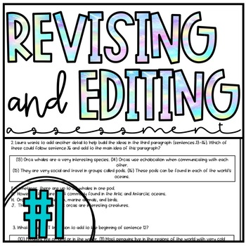 STAAR Practice Writing Assessment #1 (TEKS Aligned-Revising and Editing)