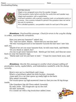 Revising and Proofreading Worksheet Set