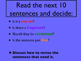 Revising for Run Ons, Fragments, and Repetitions