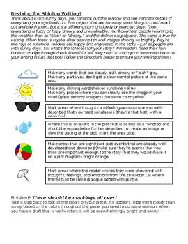 Revising (peer/partner) for shining writing