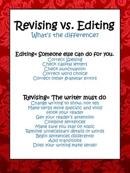 Revising vs Editing